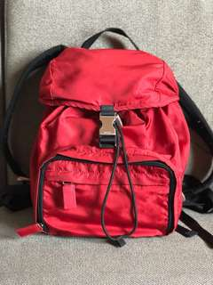 Authentic Prada Red Montagne Backpack