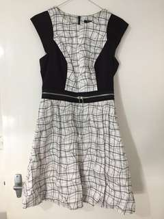 Portmans Checked Black and White Corporate Dress 8
