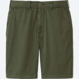 [Size S] Uniqlo Dark Green Chino Shorts