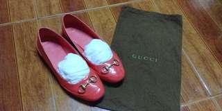 Gucci horsebit patent leather flats