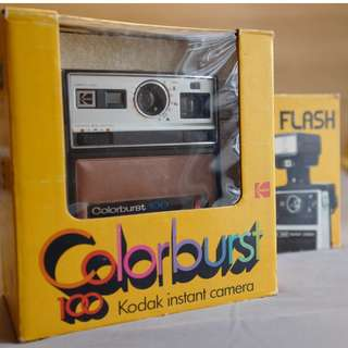 Kodak Colorburst Instant Camera w/ Strap (Included Instant Flash and Original Boxes)