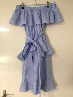 Pretty Little Thing Striped Summer Dress 10