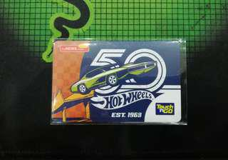 Hot Wheels 50 years limited edition touch n go card