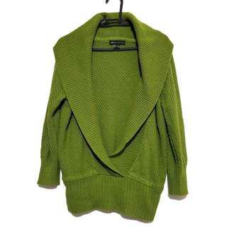 Mango Premium Knitwear Olive Green Sweater