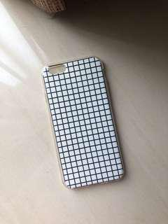 iPhone 6/6s Case (white checkered)