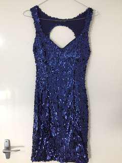Blue Sequin Party Dress 8