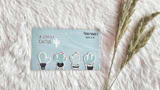 Cactus Magnetic Bookmark
