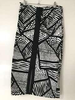Portmans Black and White Midi Skirt 6