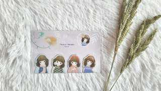 Girl Magnetic Bookmarks