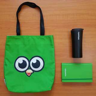 Tumbler & Bag & Notebook