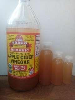 Cuka apel bragg / apel cider vinegar / bragg apel cider vinegar / acv murni / toner cuka apel