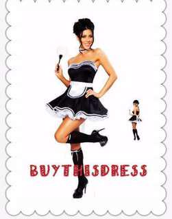 Elegant Princess Maid Black Women Costume Party Dress