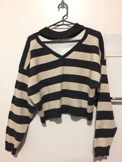 Cropped Sweater - Chocker style