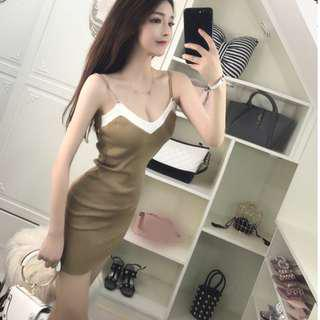 sexy bodycon knitted dress free size