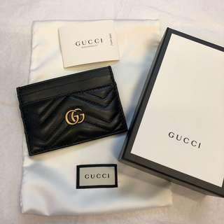 🚚 正全新Gucci marmont 名片夾 卡夾 信用卡夾 黑色
