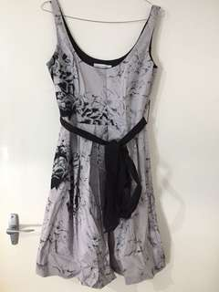 Portmans Grey Floral Dress 8
