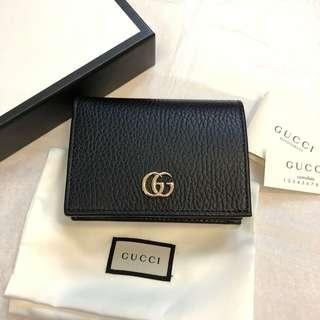 🚚 正全新Gucci marmont 黑色短夾(可當零錢包名片夾中夾