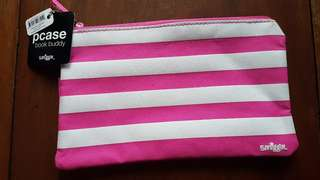 SMIGGLE PCASE BOOK BUDDY PENCIL CASE-PINK STRIPES