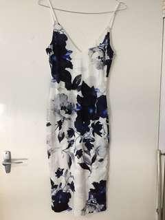 Bodycon Floral Midi Dress 8