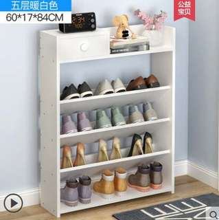 Free delivery 5 tiers wooden entrance shoe rack