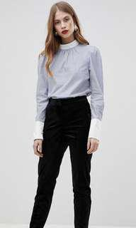 Y.A.S Contrast Striped Blouse