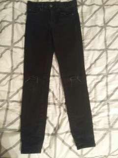 Girls bardot black jeans