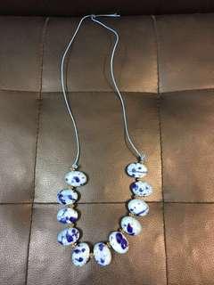 (全新) 本人自家製藍色民族頸鍊 - 只此一條, 不會同人撞款