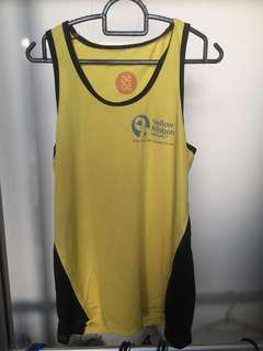 Yellow Running Singlet Size M