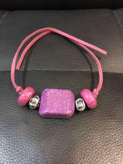 (全新) 本人自家製紫色民族手繩 - 只此一條, 不會同人撞款