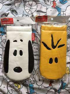 Snoopy and woodstock 太陽眼鏡袋