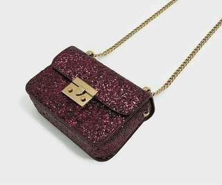 Charles and Keith Glitter Crossbody