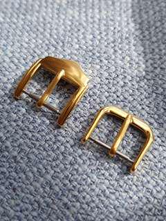 Gold 14mm watch strap buckles