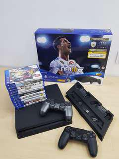 PS4 Slim 500GB with 11 CDs Game