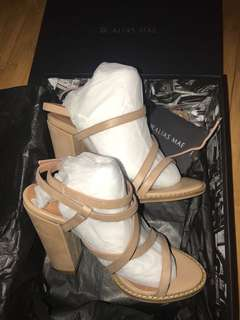 Alias Mae tan leather stroppy sandal heels