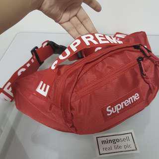 Red SUPREME Waist Pouch Waist Bag