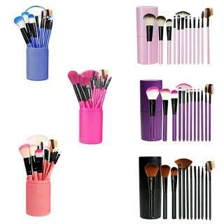 Brush makeup / brush set makeup / tube brush set isi 12pc