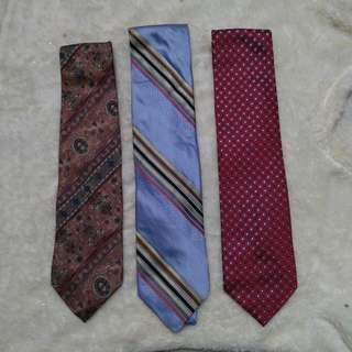 3pcs branded ties