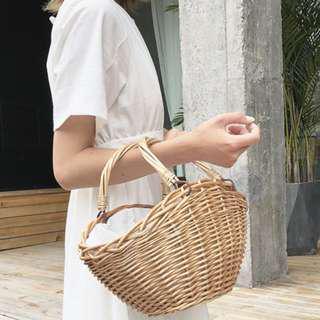 free delivery : basket & rattan bag