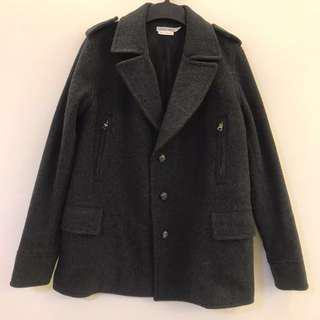 🚚 IZZUE 深灰色 羊毛長袖外套