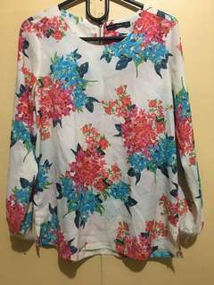Clearance Sale!!For Me Floral Office Top