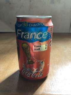 1998年法國贏巴西3:0特別版可口可樂