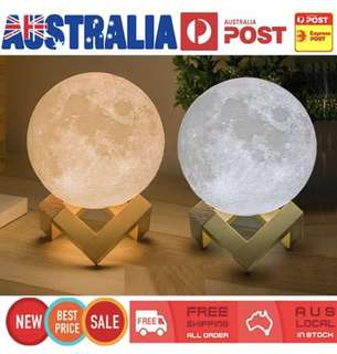 Moon Lamp 3D Dimmable Night Light
