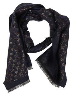 Gucci GG metallic wool scarf brand new with tag and gift box