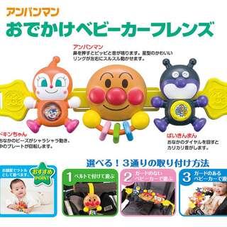 清貨特價 現貨全新原裝正版 日本版Pinocchio 日本版Anpanman麵包超人 可愛 嬰兒 bb車 手推車 用 益智遊戲玩具(適合7個月以上嬰兒) (不是Bandai ,sanrio, TOMICA TAKARA tomy,disney,麵包超人,lego)