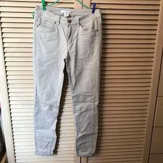 H&M L.O.G.G. beige jeans 杏色 長褲