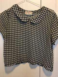 Black and white checkered t-shirt from Urban Outfitters
