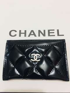 Chanel Card Holder🎀專櫃贈品🎀漆皮
