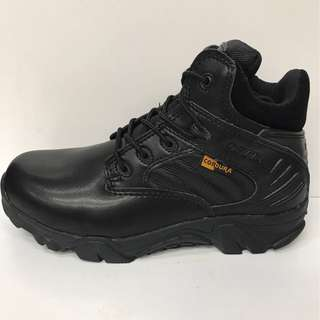DELTA BOOTS HI AND LOW CUT WITH ZIP, WITHOUT STEEL TOE