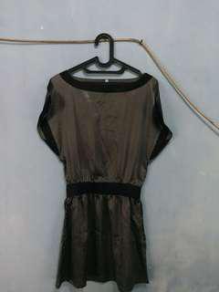silk stripe dress