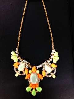 閃石頸鍊 項鍊 歐美款 有瑕疵 beaded chain statement necklace fashion jewellery